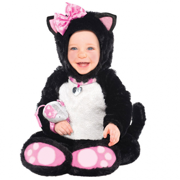 Amscan kostým Kočička černá 12 - 18 měsíců, 86cm