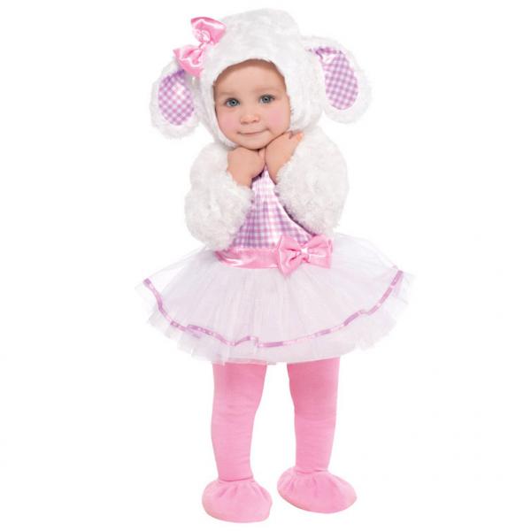 Amscan kostým Ovečka bílo-růžová, 12 -18 měsíců, 86cm