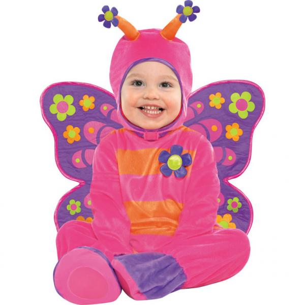Kostým Motýl růžový 12 - 18 měsíců, 86cm