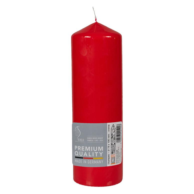 Svíčka válec červená 80/250 Gala kerzen