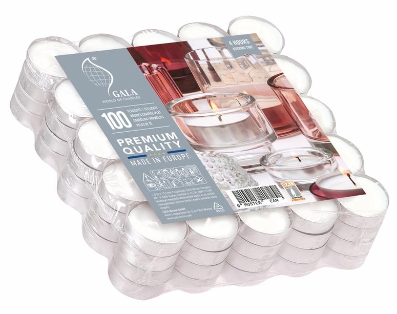Čajové svíčky 100 ks 4 hodiny