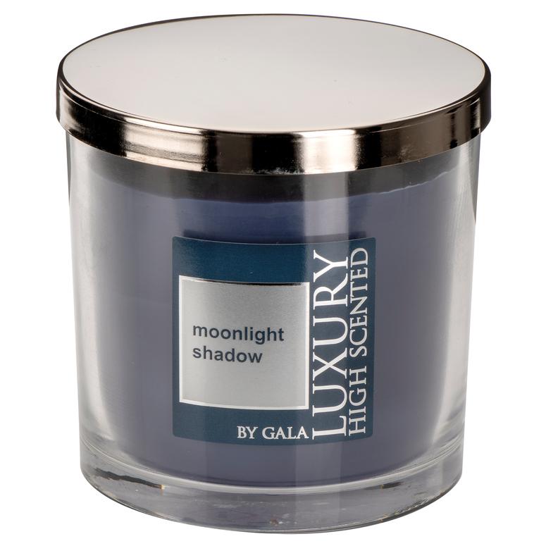 Vonná svíčka Moonlight Shadow 2-knotová ve skle Lyon s kovovým víkem Gala kerzen