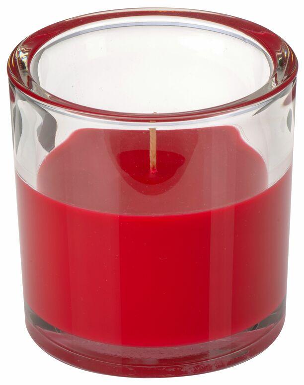 Svíčka ve skle Elegant červená 10/10 cm Gala kerzen