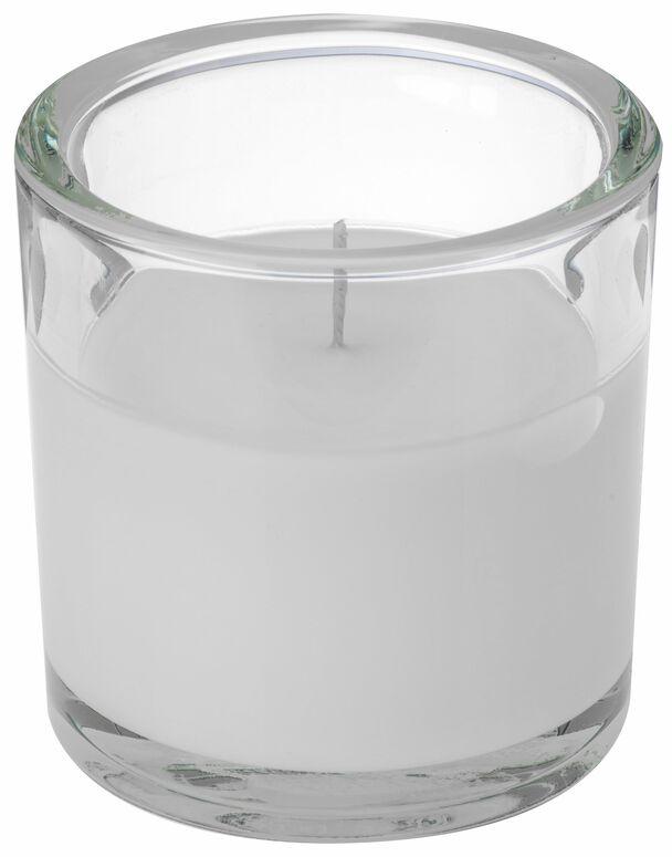 Svíčka ve skle Elegant bílá 10/10cm Gala kerzen