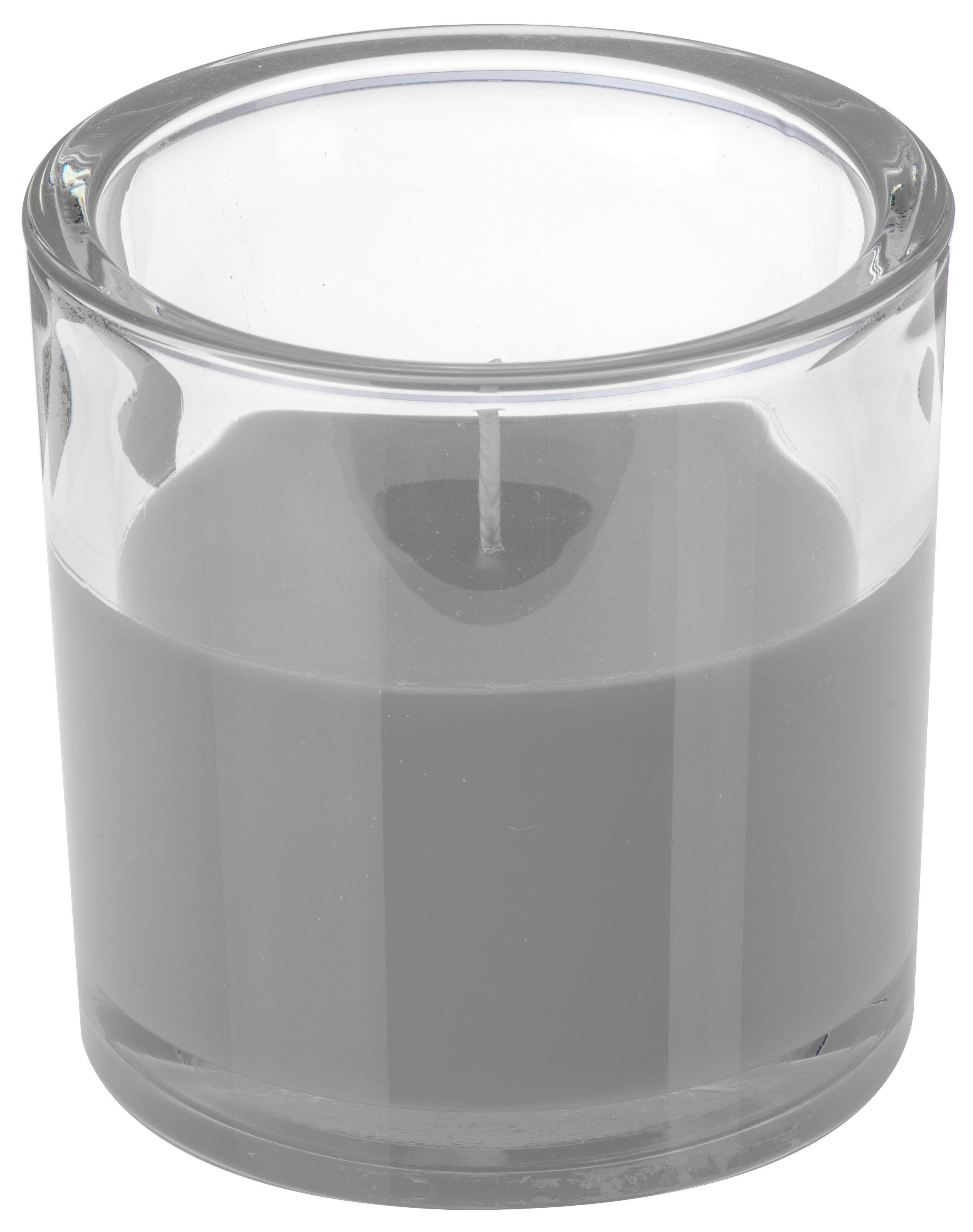 Svíčka ve skle Elegant šedá 10/10cm Gala kerzen