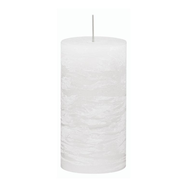 Svíčka válec bílá rustikální 68/130 Gala kerzen