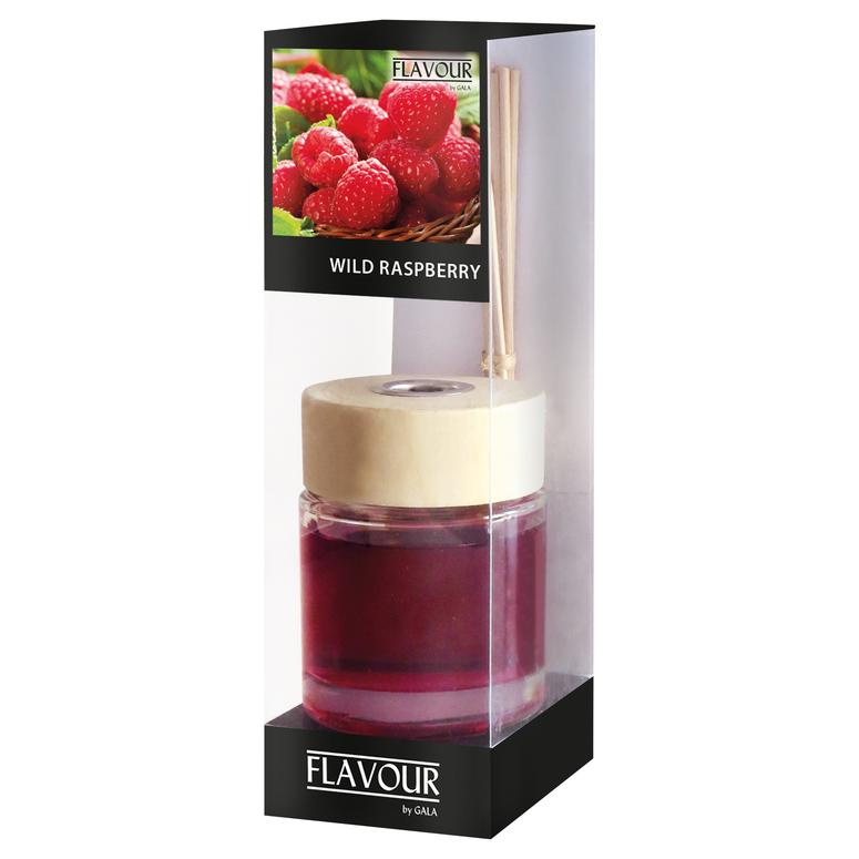Vonný difuzér Wild Raspberry 100 ml, 6 ks ratanové tyčinky