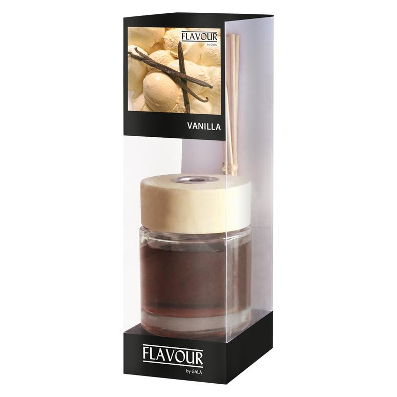 Vonný difuzér Vanilla 100 ml, 6 ks ratanové tyčinky