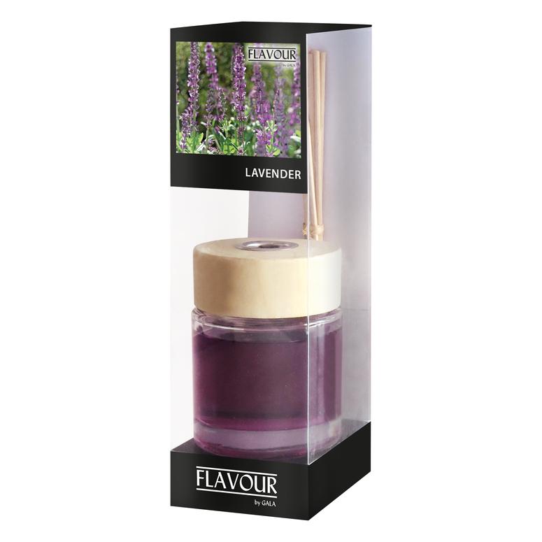 Vonný difuzér Lavender 100 ml, 6 ks ratanové tyčinky