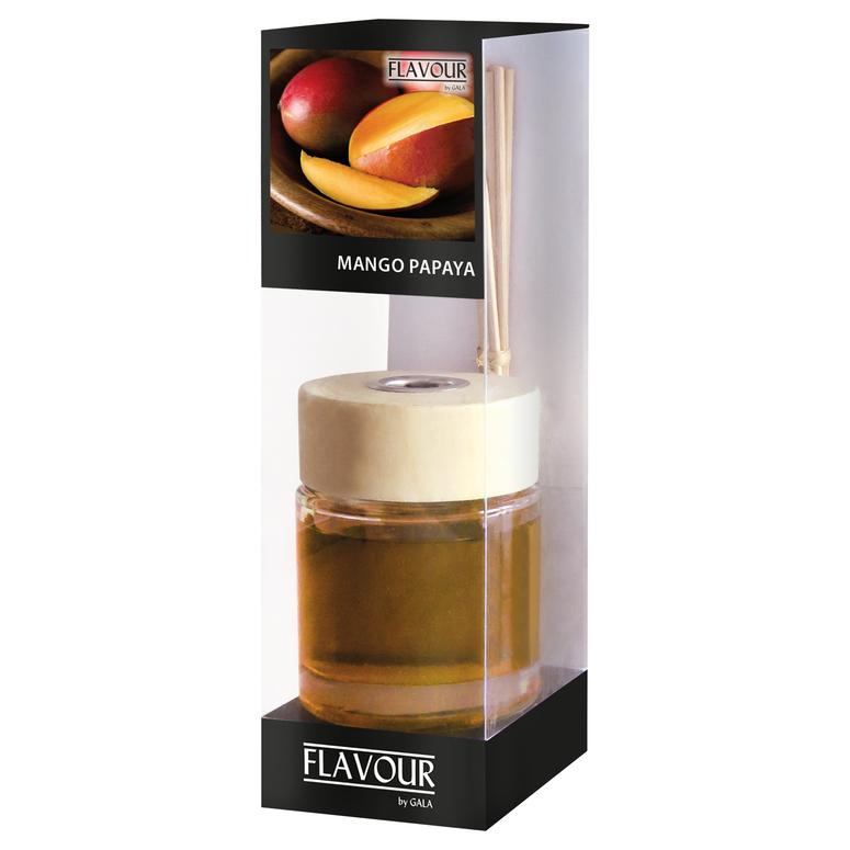Vonný difuzér Mango-Papaya 100 ml, 6 ks ratanové tyčinky