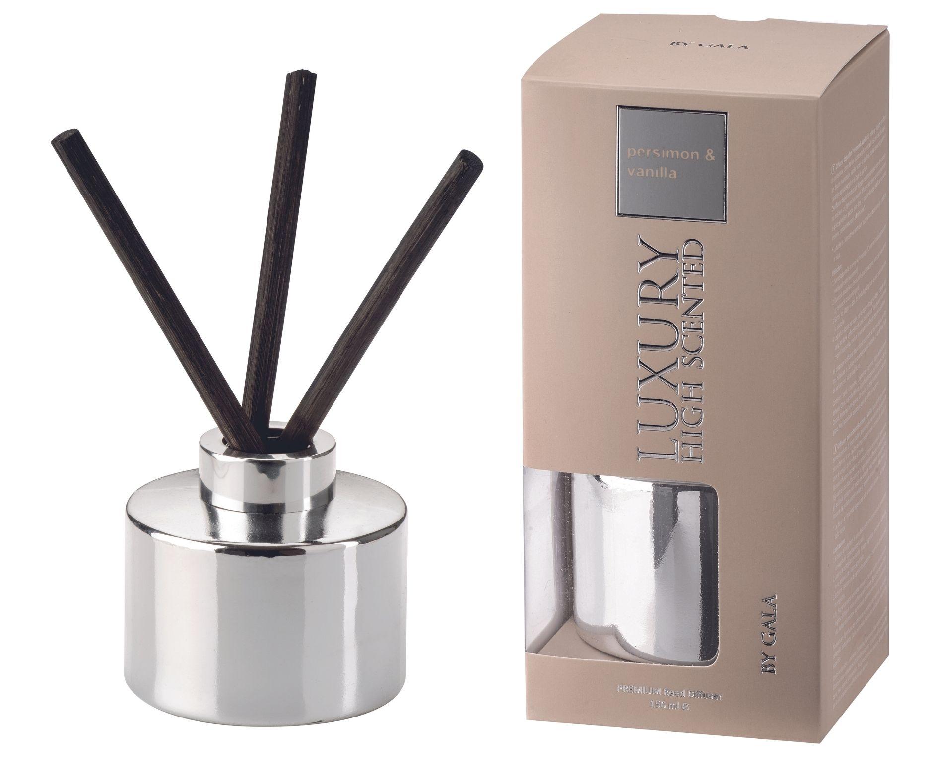 Difuzér Luxury Persimon & Vanilla 150 ml, 3 tyčinky v ceně Gala kerzen