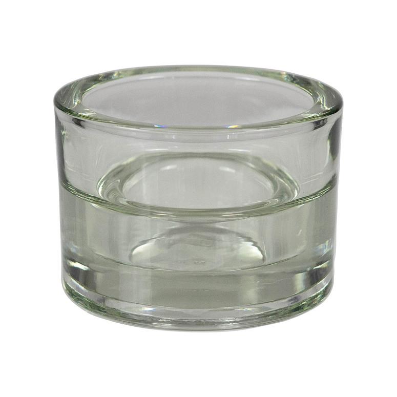 Svícen ze skla 2 v 1 pro čajovou svíčku a maxi Gala-kerzen