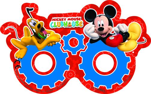 Mickey Mouse maska 6ks, rozměr masky je 17cm x 10,5cm Procos