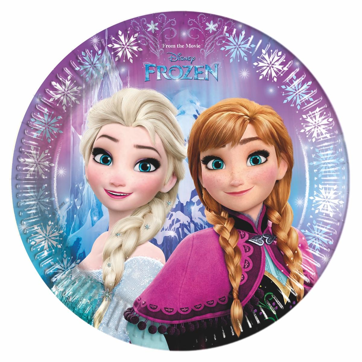 Frozen talíře 8ks 23cm Procos