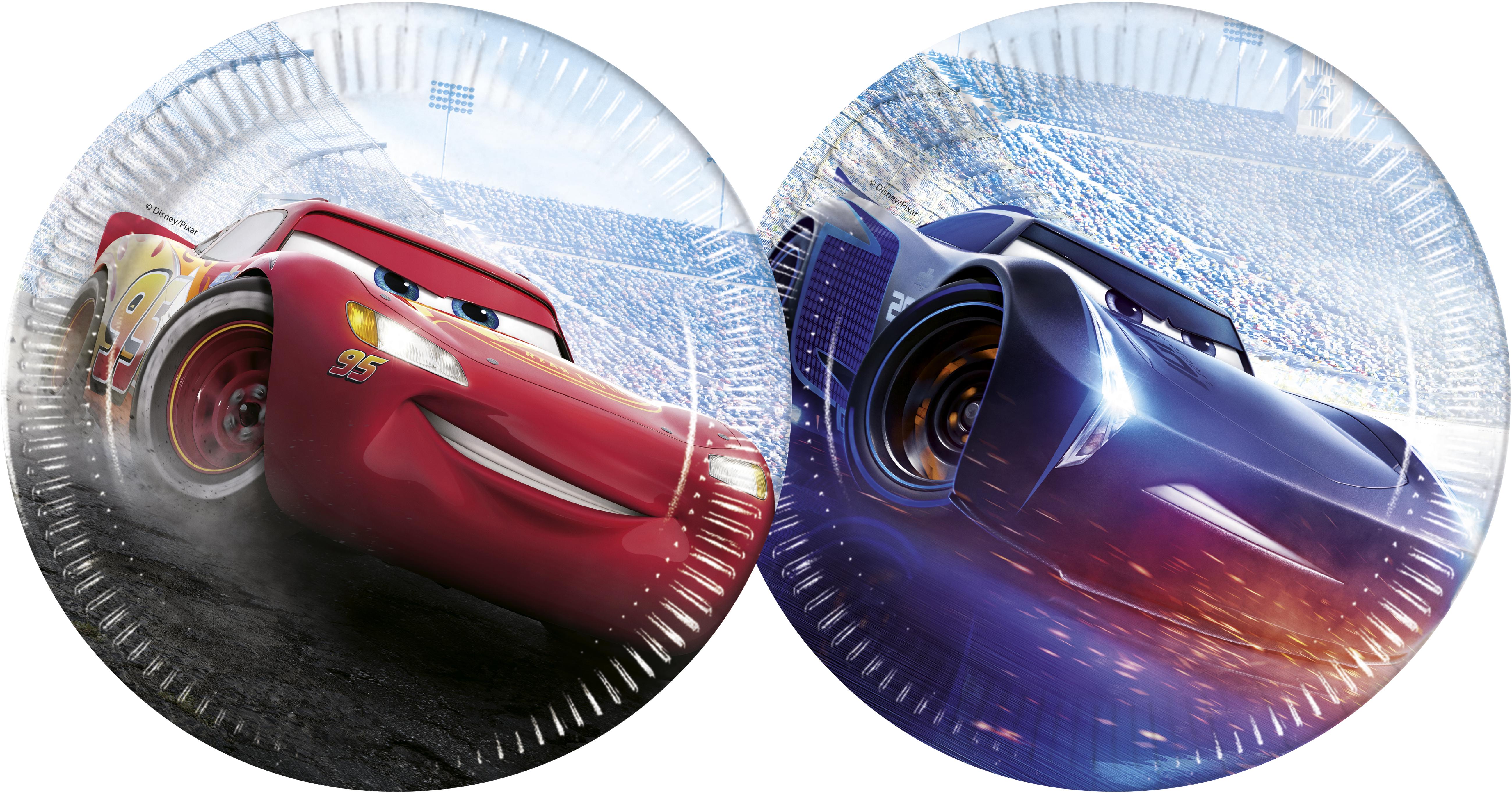 Cars talíře 8 ks 23 cm, mix 2 motivy Procos