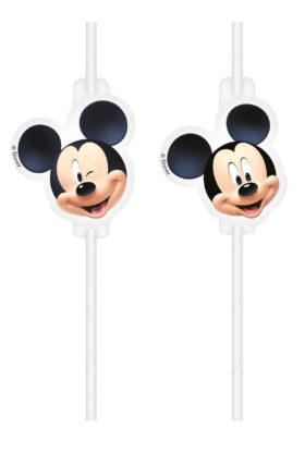 Mickey Mouse slámky na pití papírové 4 ks Procos