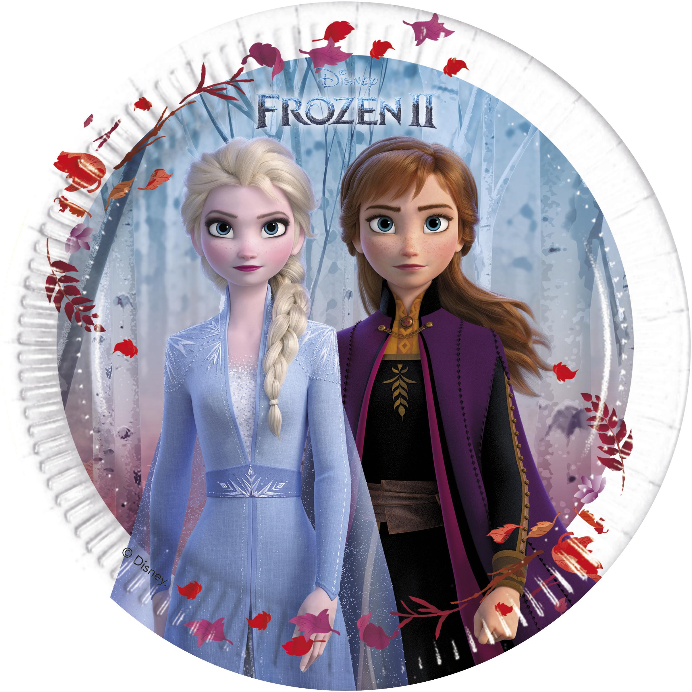 Frozen talíře papírové 8 ks 20 cm Amscan