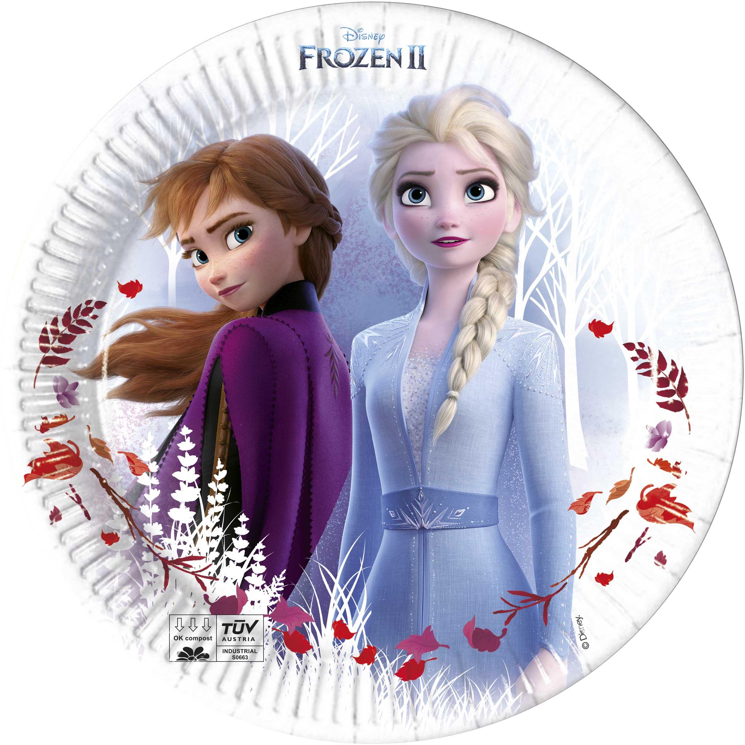Frozen talíře papírové 8 ks 23 cm Procos