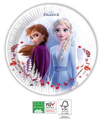 Frozen talíře papírové 8 ks 20 cm PROCOS