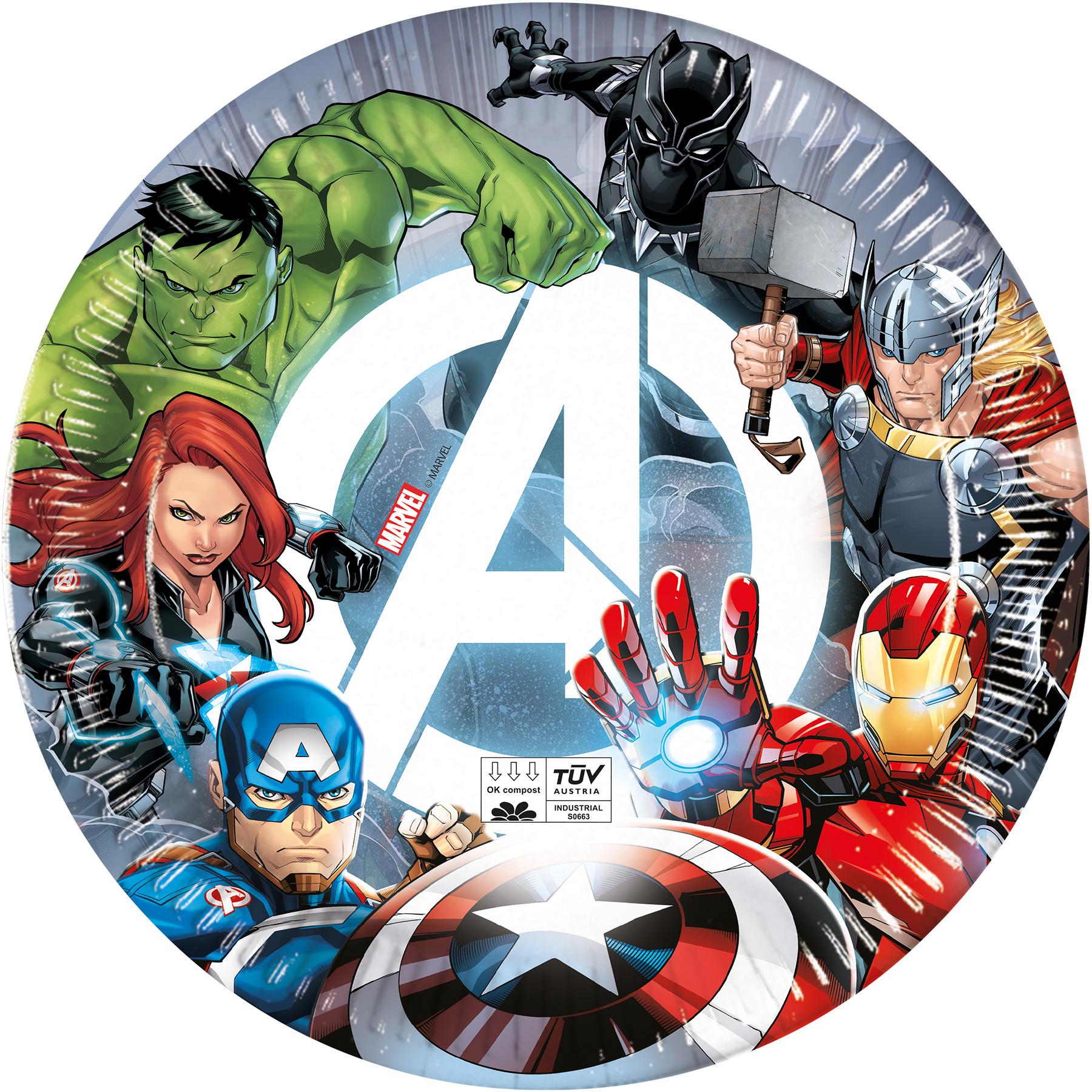 Avengers talíře papírové 8 ks 23 cm Procos