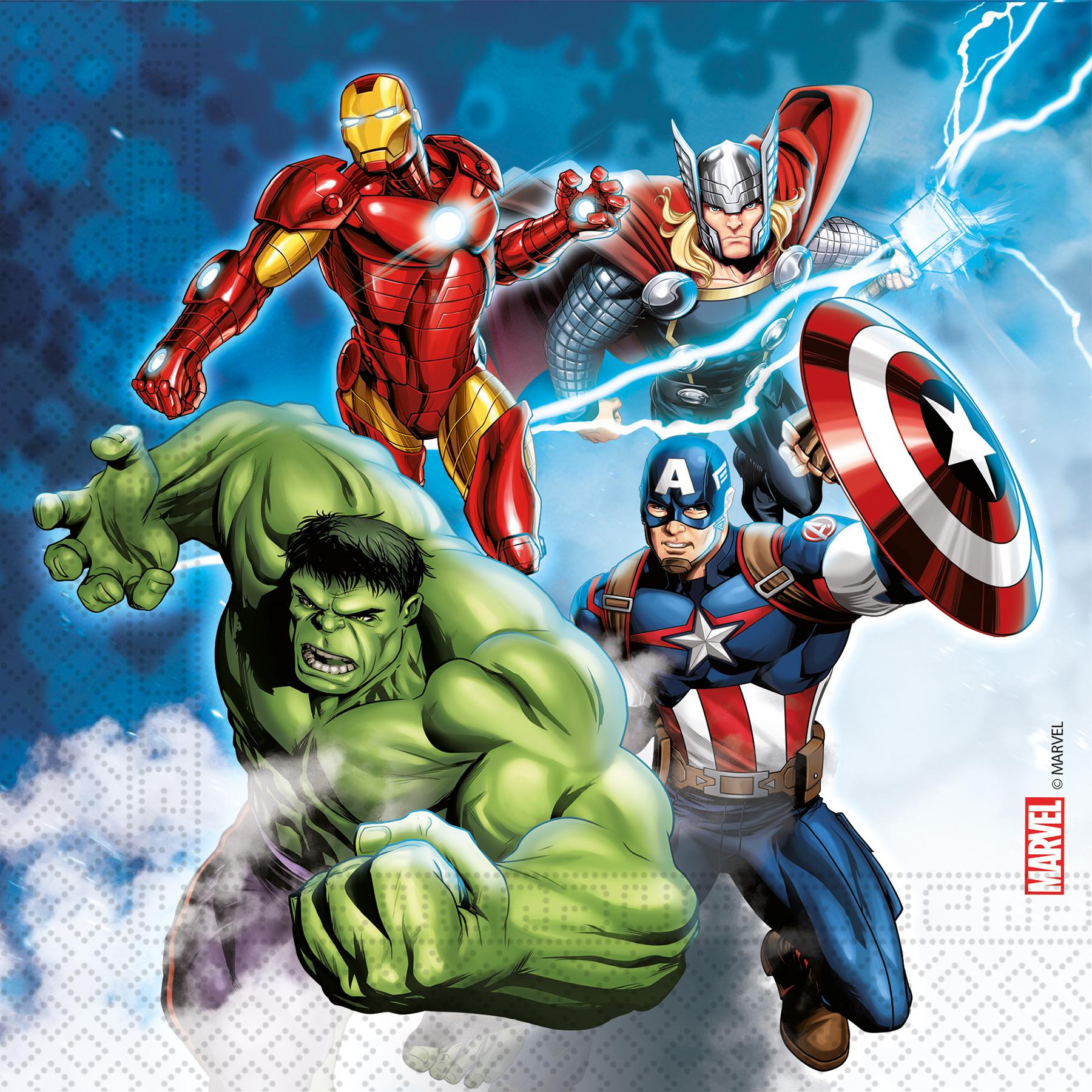 Avengers ubrousky 20 ks 33 cm x 33 cm 3-vrstvé Procos