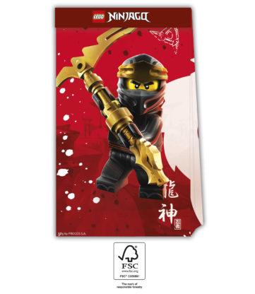 Lego Ninjago taška papírové 4 ks Procos