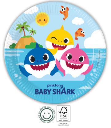 Baby Shark talíře 8 ks 23 cm Procos