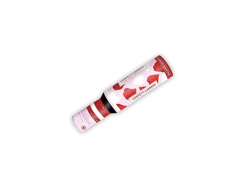 Partydeco Vystřelovací konfety srdíčka a lístky květů 30 cm