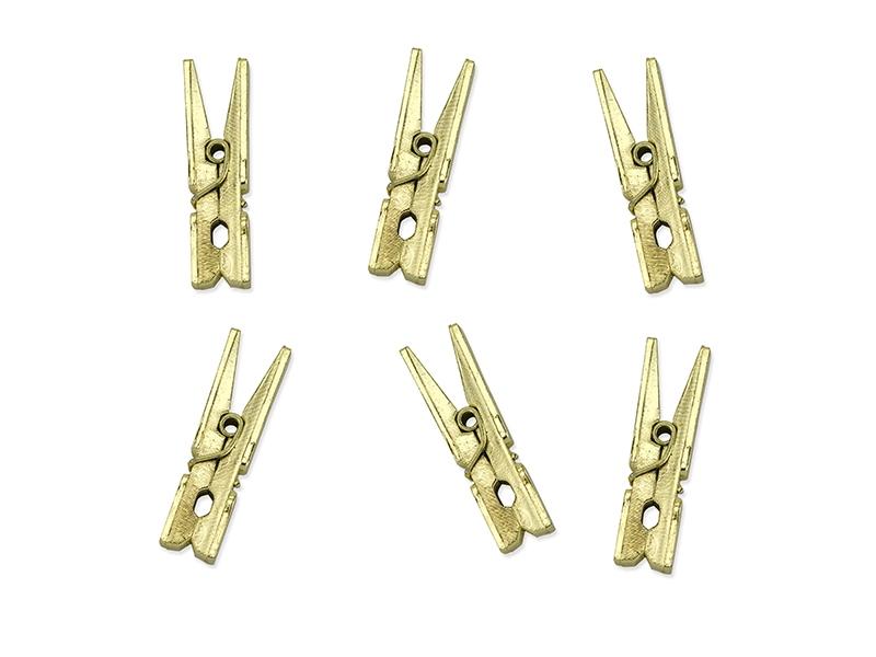 Kolíčky zlaté 20 ks