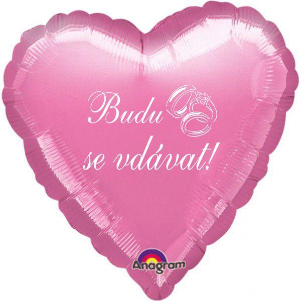 Budu se vdávat balónek foliový růžový