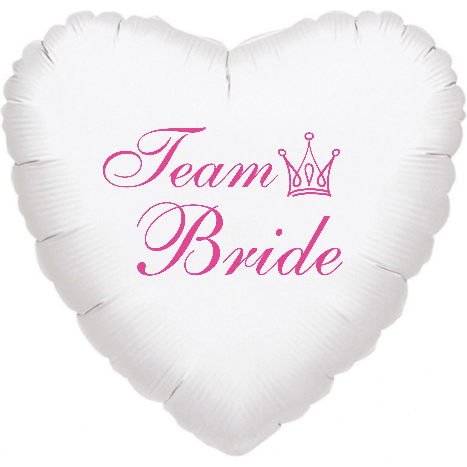 Team Bride balónek foliový bílý