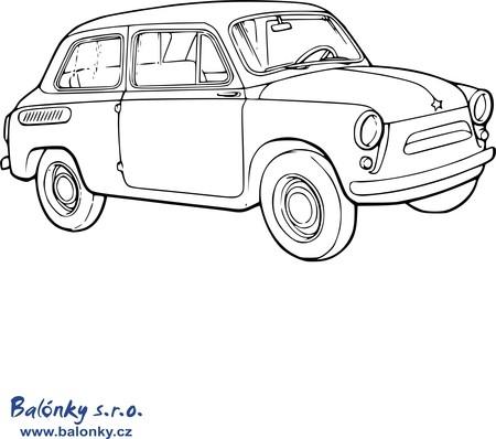 Omalovánky auta