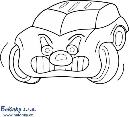 Omalovánka zuřivé auto