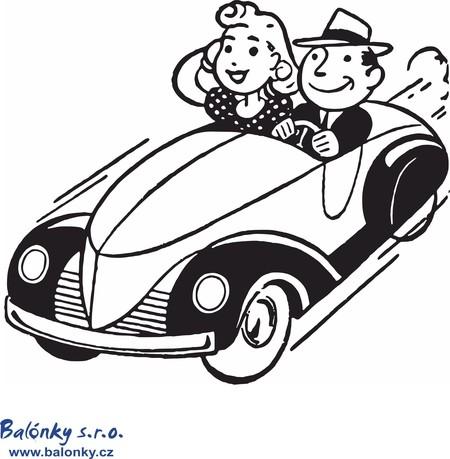 Omalovánky výlet autem