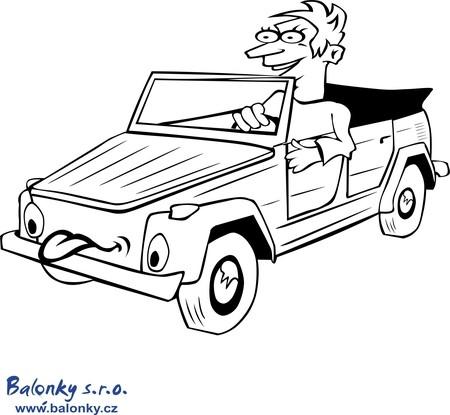 Omalovánky auto kabriolet