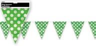 Vlajka zeleno - bílé tečky 3,65m