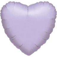Balónek srdce foliové světle fialové 43cm