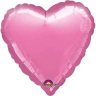 Balónek foliový srdce Pink Metallic