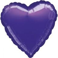 Balónek foliový srdce Purple Metallic