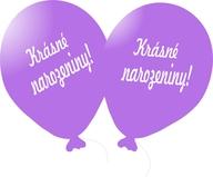 Balónek světle fialový Krásné narozeniny!