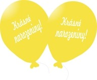 Balónek žlutý Krásné narozeniny!