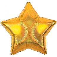 Balónek hvězda zlatá