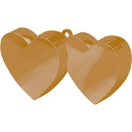 Závaží na balónky srdíčka zlaté spojené