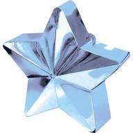 Závaží na balónky hvězda světle modrá