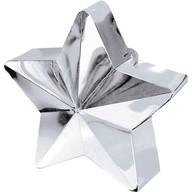Závaží na balónky hvězda stříbrná