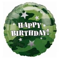 Army šťastné narozeniny foliový balónek 45cm