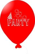 Balónky PARTY červené 5ks