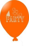 Balónky PARTY oranžové 5ks