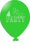 Balónky PARTY zelené 5ks