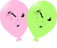 Balónky omalovánky kůň 5ks mix + fix
